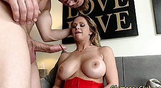 Busy pornstar gets pussyfucked