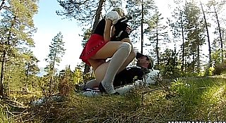 Norwegian MonicaMilf fucking outdoors on 17th may