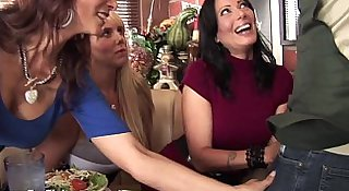 Three Stacked MILFs Desperate For Dick!