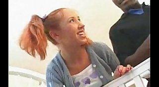 Cute redhead teen