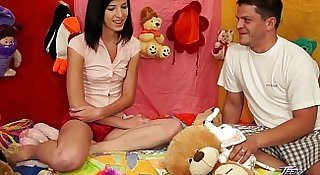 TeenyPlayground Teen facial and fucking from behind