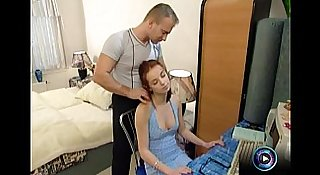 Redhead teen with fresh goodies fucked discreetly by her boyfriend