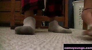 Webcam Girl Socks & Feet, Free Amateur HD Porn 1e: