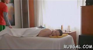 Naked hotty massage