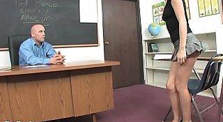 Sweet Blonde Teen Seduces Her Teacher!
