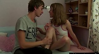 Petite teen gets slit licked and pounded