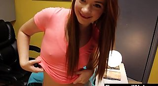 Webcam Show With Incredible Young Redhead